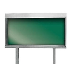 新協和 ステンレス屋外掲示板(2本脚型)蛍光灯付 レザーグリーン メーカー直送品 代引不可 SK-1800-2