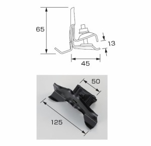 白幡 DXフジ平葺 STD小 125mm 亜鉛・生地(1箱・60個価格) ※取寄品 Y-4
