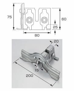 白幡 NF立平羽根付 中 200mm 高耐食鋼板・生地(1箱・30個価格) ※取寄品 T-10
