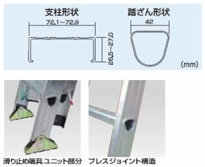 PICA 2連はしご スーパーコスモス(全長:4.59m)【メーカー直送品・代引不可】 2CSM-46