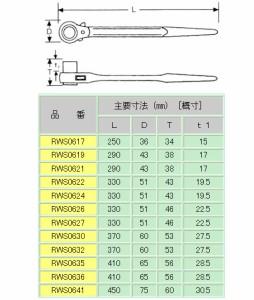 MCC 片口ラチェットレンチ 36 RWS0636