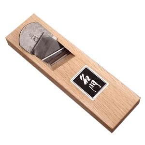 常三郎 ヒナ(豆)キワ鉋(名門・青鋼)右36mm(七寸台・白樫)