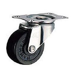 ハンマーキャスター ゴムキャスターEシリーズ(ステンレス金具)自在式 車輪径75mm 320E-R75