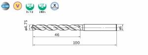 三菱マテリアル バイオレット高精度ドリル(M)4.75mm VAPDMD0475
