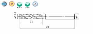 三菱マテリアル バイオレット高精度ドリル(S)3.65mm VAPDSD0365