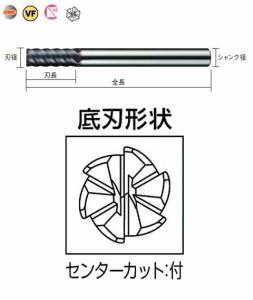 三菱マテリアル 6枚刃インパクトミラクルラジアスエンドミル(M) VFMDRBD0400R030