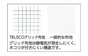 トラスコ 制電糸グリッド仕様ジャケット(衿付) ブルー M TCLGJ-B-M