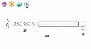三菱マテリアル バイオレット高精度ドリルステンレス用(S)5.05mm VAPDSSUSD0505
