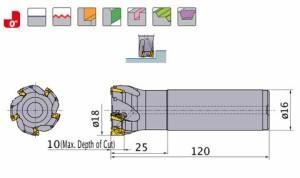 三菱マテリアル 多機能形ショルダカッタ APX3000R182SA16LA