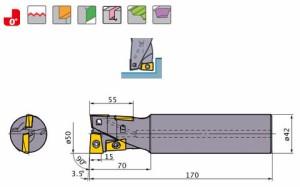 三菱マテリアル ハイブリッドミル AQXR504SN42S
