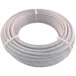 トラスコ JIS規格品メッキ付ワイヤロープ (6×24)φ9mm×10m※取寄せ品 JWM-9S10