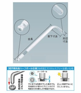 トラスコ ハーフボール六角棒レンチ 5.0mm ※取寄せ品 THBR-50