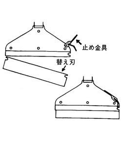 土牛 ドライスクレーパー(本体) 1350mm 01810