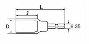 TOP 電動ドリル用足場クランプソケット(兼用クランプ対応タイプ)17mm ESS-17C