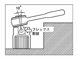 TOP ハンディラチェットFタイプ(フレックス)(差込角9.5mm) RH-3SF