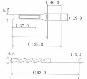 NH 小林式 角のみ (組) 4.5mm 標準