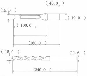 NH 小林式 角のみ (組) 15.0mm 標準