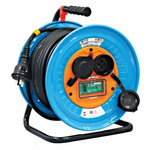 日動 防雨・防塵型三相200V動力用電工ドラム E付20m EBタイプ DNW-EB320-20A