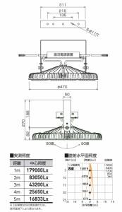 日動 エースディスク500W 吊下げタイプ 超スポット15度 L500W-P-AVS15-50K