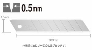 オルファレフティ替刃(大) ブリスター/10枚入(LBL10B)