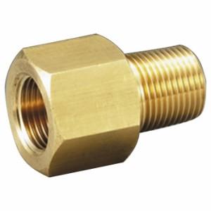 フローバル 黄銅製圧力計ソケット メネジ(PF)3/8×オネジ(PT)1/4 OJ-371