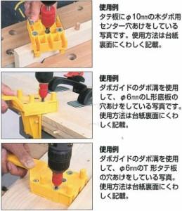 ミツトモ製作所 木ダボ用ドリル刃ガイド 6・8・10mm用 26325
