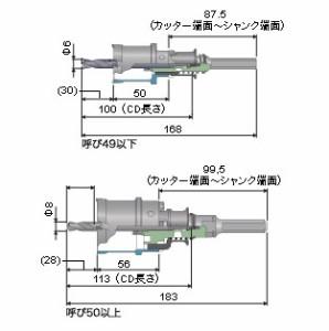 ミヤナガ 深穴ホールソー(ポリクリック)カッター 21mm PCF021C