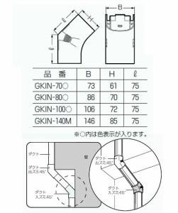 未来工業 ダクト入ズミ45°(100型)黒 10個価格 GKIN-100K