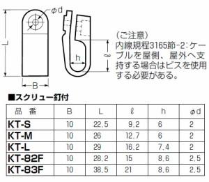 未来工業 VV-F片サドル(プラスチック製)スクリュー釘付 2000個価格 KT-L