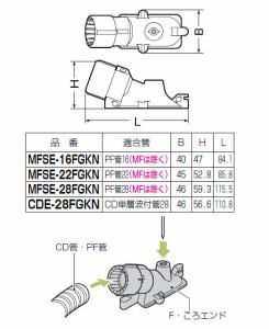 未来工業 F・ころエンド Gタイプ 釘無 PF管22(MFは除く)用(10個価格) MFSE-22FGKN