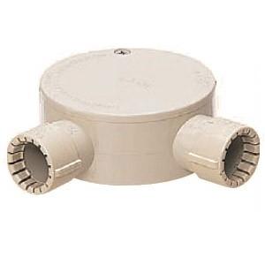 未来工業 露出用丸形ボックス(Gタイプ・2方出)適合管VE16 グレー 20個価格 MFSM16-2LGH