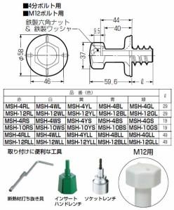 未来工業 4分ボルト用 防露型(断熱材厚50mm以上用)ニューカラーインサート 赤 20個価格 MSH-4RLL