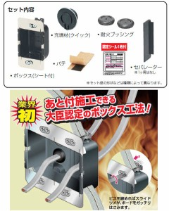 未来工業 タイカブラック 耐火パネルボックス 長さ62mm(1個価格) MTKB-1SBP
