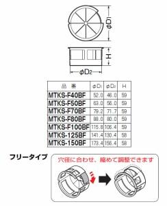 未来工業 バックアップスリーブ 50・57mm充填用(フリータイプ)141.4×130.4×58mm(1個価格) MTKS-125BF