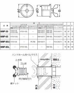 未来工業 止水栓 グレー 適用管径33〜41mm(1個価格) MWP-30