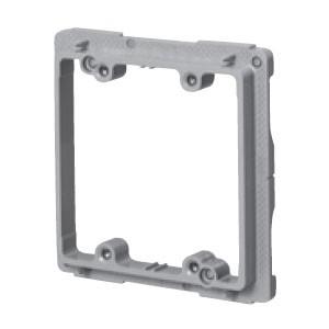 未来工業 プラスチック製塗代カバー(ワンタッチタイプ)スイッチカバー2個用(100個価格) OF-12P2YS