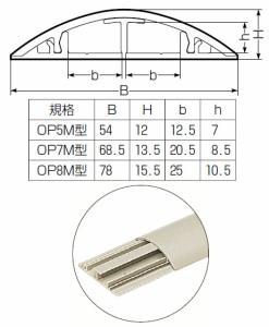 未来工業 セパレートタイプワゴンモール(OP8M型) 全長1m グレー 10本価格 OP8M-G