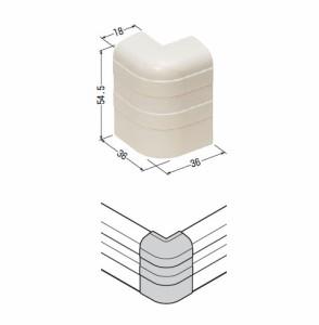 未来工業 巾木モール付属品出ズミ チョコレート(1個価格) PHMD-55T
