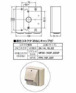 未来工業 PVKボックス(器具用)ベージュ(1個価格) PVK-ALN1PKJ