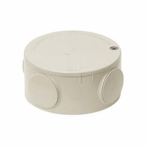 未来工業 露出用丸型ボックス(ブランクタイプ)ミルキーホワイト PVM-0M 1個価格 PVM-0M