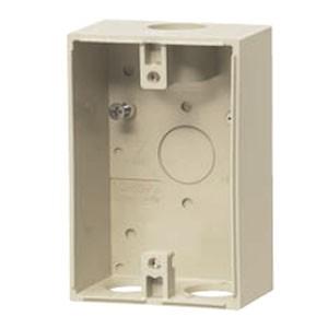 未来工業 露出スイッチボックス(防水コンセント用)ベージュ VE16・22(1個価格) PVR22-BCUJ