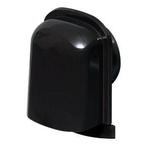未来工業 パイプフード(薄型)サイズ150 ブラック(6個価格) PYT-S150AK