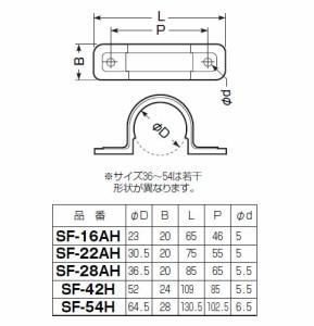 未来工業 両サドル(CD管用)グレー PF管54用(10個価格) SF-54H