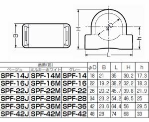 未来工業 PF・VE兼用台付サドル 適合PF管36・VE管36 ミルキーホワイト 100個価格 SPF-36M