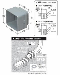 未来工業 コンビネーションカバー トラフ(120)用(1個価格) TBF-120