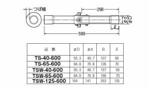 未来工業 ワイドつば付スリーブ(地中梁用貫通スリーブ)(1個価格) TSW-65-600