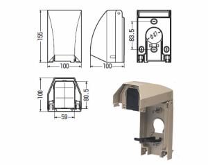 未来工業 防水引込みカバー(eデザイン)ミルキーホワイト(1個価格) WKH-2M