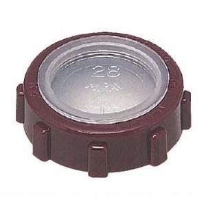 未来工業 厚鋼電線管用(フタ付)ポリカブッシング(絶縁ブッシング)厚鋼104用 5個価格 ZVF-104