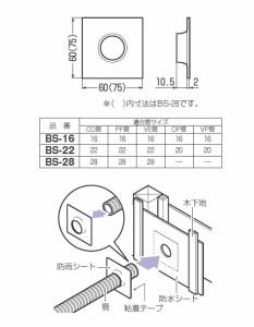 未来工業 防雨シート 電線管用(10個価格) ※取寄品 BS-16