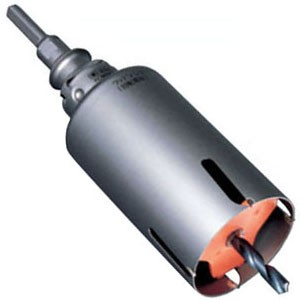 ミヤナガ ウッディングコアドリル(ポリクリック)75mm ストレートシャンク